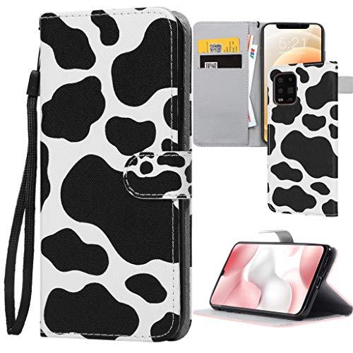 ZhuoFan Funda para Xiaomi Redmi Note 9/ Redmi 10X 4G 6.53' ,Negro Funda de Cuero PU Premium Carcasa para Redmi 10X el teléfono Flip Genuino Soporte Plegable Ranura Tarjeta Cierre Fundas Cover, Vacas