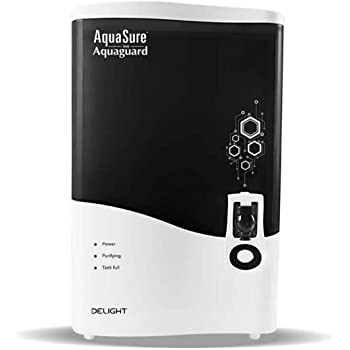 Eureka Forbes AquaSure from Aquaguard Delight (RO+UV+MTDS) 7L water purifier,6 stages of purification (White)