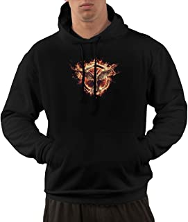 Hoodies for Men Classic Pullover Hiking Fleece with The Hunger Games Printing