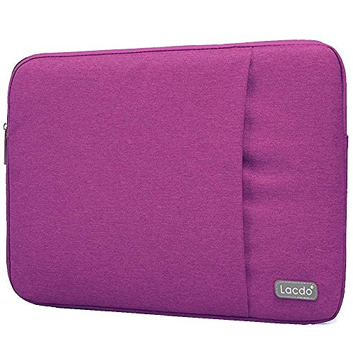 Lacdo 13.3 Inch Laptop Sleeve Case for 13 inch Old MacBook Pro 2012-2015/MacBook Air 2010-2017, 13.5' Surface Book 3 2 1, 13.3' Jumper EZbook X3, HP Envy X360, Acer ASUS Dell Lenovo Chromebook, Purple