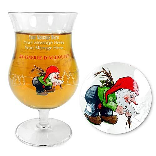 Verre à bière belge personnalisé / gravé 33cl La Chouffe - Entrez votre propre texte