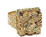 Diamantados of Fla Santa Barbara Anillo 18 K Chapado en Oro