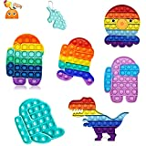 Push Pop Bubble Fidget Sensory Toy for Autistic Children Adult Autism Stress Reliever Silicone Stress Reliever Toy Fluorescent Pop (Among us Pop Set)