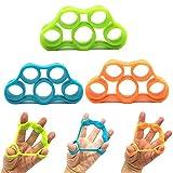 3 Piezas Ejercitador de Estiramiento de Dedos Ejercicios Fuerza Dedos Silicona Entrenador Ensanchador de Dedos Entrenador de MúSculos de la Mano para la PrevencióN y RehabilitacióN de la Escalada