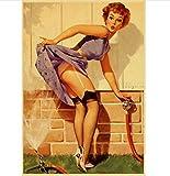 N/P Cartel De La Película Pin Up Girls Classic World War II Retro Canvas Paper Poster Vintage Pin Up...