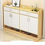 Muebles para el hogar, gabinetes de zapatos, sala de estar de m¨²ltiples capas, pasillo, gabinete de almacenamiento, dormitorio, balc¨®n, zapato O-blanco 2 140x30x90CM