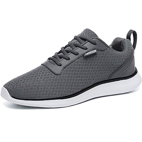 BaiMoJia Hombre Zapatillas Deportivas Zapatos Running Bambas Verano Deporte Ligeras Casual Gris Oscuro 46 EU