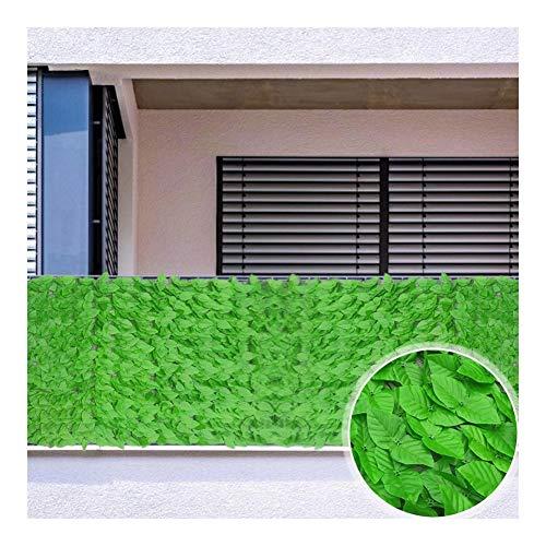 Hiedra Artificial, Valla De Privacidad Pantalla, Cortinas De Sombra, Incluye 100 Bridas Panel Resistente A Los Rayos UV Decora El Jardín Balcón, Piscina, Acera (Color : Green, Size : 1.5x3m)