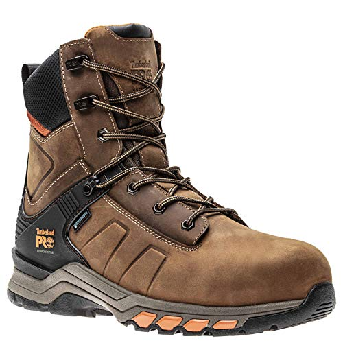 Timberland PRO Men's Hypercharge 8' Composite Toe Waterproof Industrial Boot, Brown Distressed, 10.5 M US