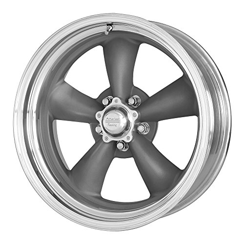 "American Racing VN215 Classic Torq Thrust II 1 Pc Mag Gray Wheel with Center Polished Barrel (15x8""/5x127mm, -18mm offset)"