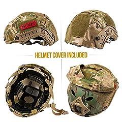 OneTigris Unisex's PJ Tactical airosft Helemt Helmet, Multicam, One Size #4