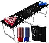 Juego de Beer Pong Ciervo | 1 Mesa Beer Pong + 120 Tazas (60 Azules y 60 Rojas) + 6 Bolas | Mesa Oficial | Juego de Beber | OriginalCup®