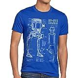 style3 AT-ST Cianotipo Camiseta para Hombre T-Shirt Fotocalc