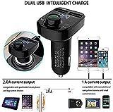 LXCN X8 Car Bluetooth FM Transmitter Kit Dual USB Rapid Fast Charger