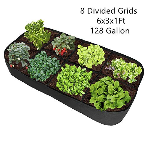 æ— 8 Grid Plant Growing Bag|Felt Planting Bag|Garden Grow Bag|Breathable Planting Container|Raised Garden Bed|Planter Box Pouch for Herb,Plant, Flower