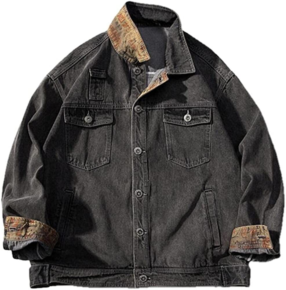 autumn men's Popular shop is the lowest price challenge loose Selling casual multi- denim patch jacket