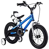 CWH&WEN Bicicleta De Los Niños 12/14/16/18 Pulgadas Kid Bicicleta Plegable De Acero Al Carbono De Alta Bicicleta 3-8Years Viejos Y Las Viejas Sola Velocidad Amortiguador De Bicicletas,Blue,12 Inch
