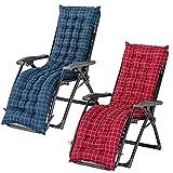 YWTT Cojines reclinables para tumbonas, Repuesto para cojín para tumbonas, Almohadilla para sofá, Silla Relajante y Gruesa, con Cuerda de fijación, para jardín, Patio, Oficina (2 Piezas)