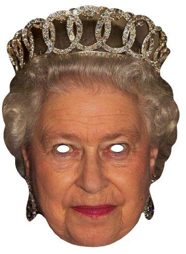 Star Cutouts Gesichtsmaske Königin Elisabeth II. – bedruckte Pappmaske