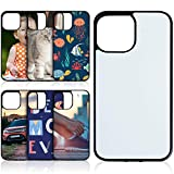 Konohan 6 Pieces Sublimation Blank Phone Case Compatible with iPhone 12 Pro Max, 6.7 Inch Blank Printable Phone Cover for DIY Heat Press Soft Rubber Protective Shockproof Phone Case