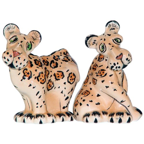 Westland Giftware Ark Safari Leopards Salt and Pepper Shaker Set, 3-Inch