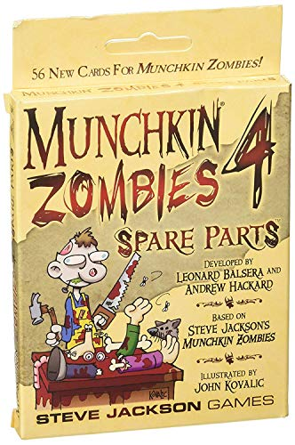 Steve Jackson Games SJG01493 - Munchkin Zombies 4 - Spare Parts, Kartenspiel