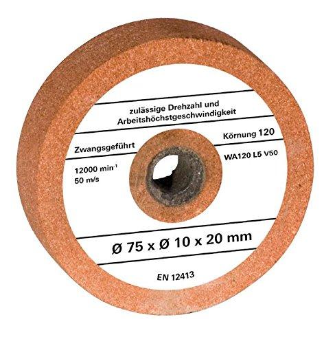 Original Einhell Ersatzschleifscheibe (passend für Doppelschleifer TH-XG 75, 15x10x20 mm G120)