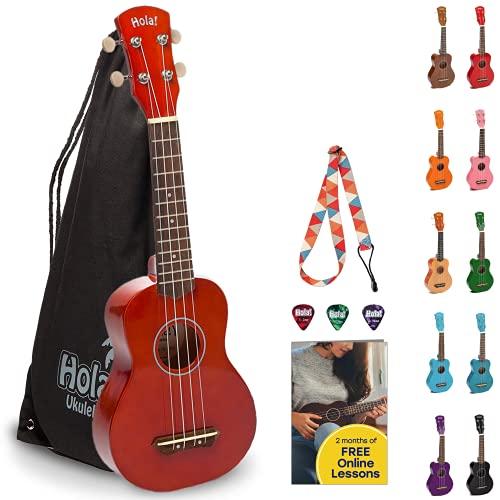Hola! Music Ukuleles for Adults, Kids & Beginners - 21' Maple Soprano...