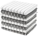 Gryeer Microfiber Kitchen Towels, Stripe Designed, Soft and Super Absorbent Dish Towels, Pack of 8,...
