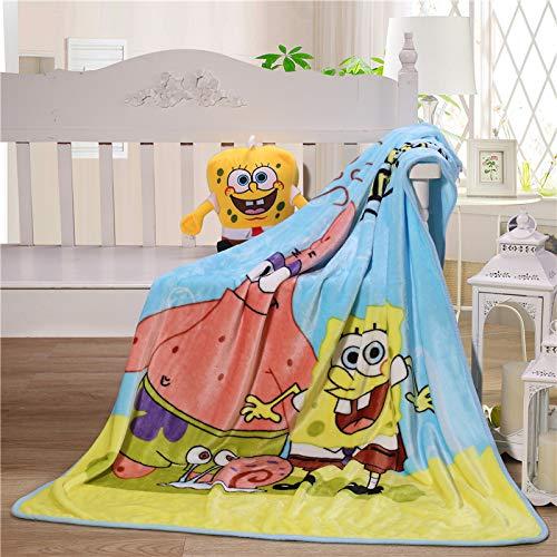 WFBZ Decke Spongebob Schwammkopf Patrick Star Decke Superweiche Samt Warme, Patrick Star Blanket,Superweiches Fleece Warme (Dünnschnitt)