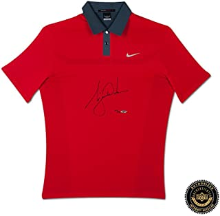 Tiger Woods Autographed/Signed 2013 Nike TW Engineered Red Polo Shirt