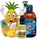 Kit Alquimia Vapeo | Oasis Piña Aroma Concentrado + Base Vapeo - 70VG/30PG - 100 ml | Sin Nicotina: 0mg | Para Vaper Cigarrillo Electronico | Sabor Flavour