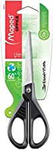 Maped 8468010 Essentials 17CM Scissor with 70 Percent Recycled Handle,Green