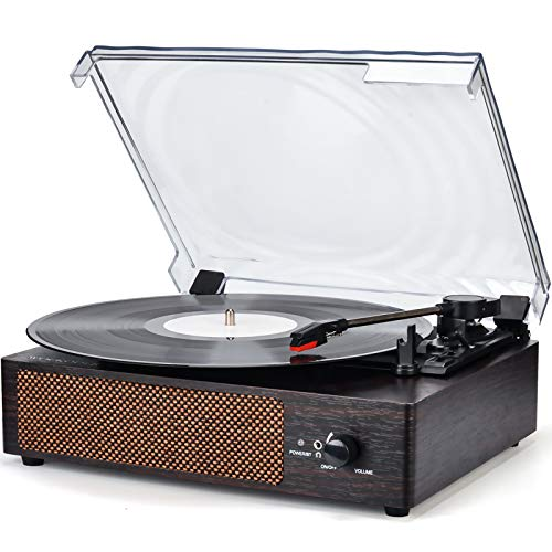 Record Player Turntable Wireless Portable LP Phonograph with Built in Stereo Speakers 3-Speed Belt-Drive Turntable Vinyl...
