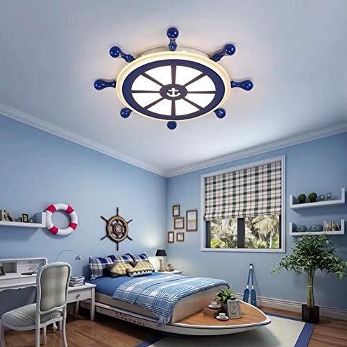 FCX-LIGHT Kinderzimmer LED Deckenleuchte Blau Ruder Acryl Decke Lampe Nautischer Anker Deko Pendelleuchte für Wohnzimmer Schlafzimmer,WhiteLight,55 * 55CM