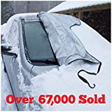 SnowOFF Windshield Snow Ice Cover - Custom Made Premium Quality Car Cover - Windproof Straps, Wings,...
