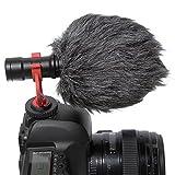 BOYA BY-MM1 - Micrófono universal para grabar vídeo Livestream para iPhone, Android, smartphone, Mac, tableta, Youtube, Canon, Sony, DSLR, cámara de vídeo