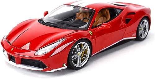 courirWEI Modèle de Voiture 1 18 Alliage coulée sous Pression Collection de Bijoux de Voiture Ferrari modèle Simulation OrneHommests décoratifs (Couleur   rouge B)