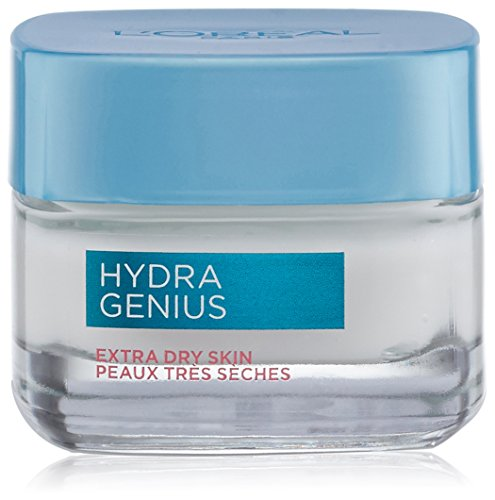 Hyaluronic Acid Moisturizer for Face, L'Oreal Paris Skincare Hydra Genius Daily Liquid Care Oil-Free Face Moisturizer for Extra Dry Skin with Aloe Water and Hyaluronic, 1.7 Oz.