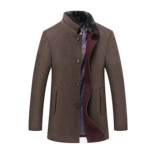 youthup mens wool coats casual