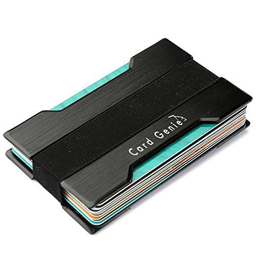 Card Genie Metal Card Holder Wallet Rfid Blocking Protector Minimalist Black