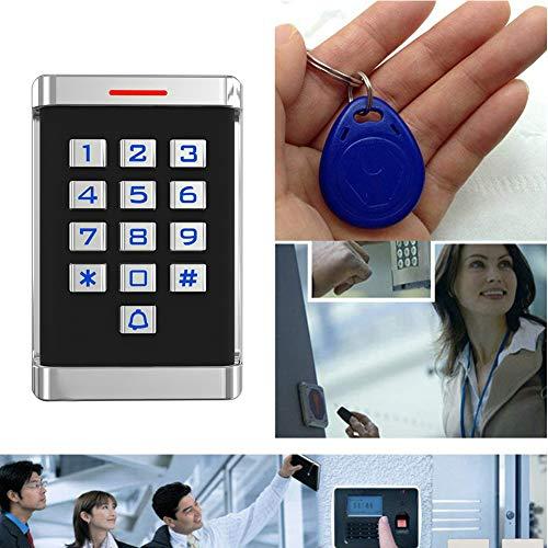 Diyeeni RFID Zutrittskontrollsystem Elektronisches Türschloss mit 10 RFID Karte, Große Keypads, 2000 Benutzer, Wiegand 26-bit Metal Zugangssystem Türöffner für Home Büro(Normal)
