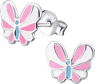 Laimons Kids Collier avec pendentif pour enfant coeur pink rose argent sterling 925