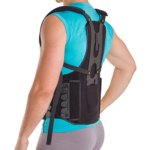 Postural Extension Back Straightener Brace - Rigid Posture Corrector Vest for Kyphosis Hunch Relief, Mild Scoliosis Support, and Hunchback or Lordosis Spine Treatment (S/M)