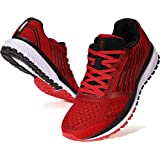 JOOMRA Men's Running Shoes Walking Jogging Workout Fitness Size 7 Red Lightweight Cushion Breathable Teens Boys Lace up Runny Gym Athletic Tennis Sneakers for Man 40