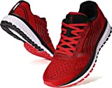 JOOMRA Mens Lightweight Tennis Shoes Running Walking Fitness Size 12 Cushioned Male Exercise for Man Runny Outdoor Comfy Athletic Workout Sneakers Red 46
