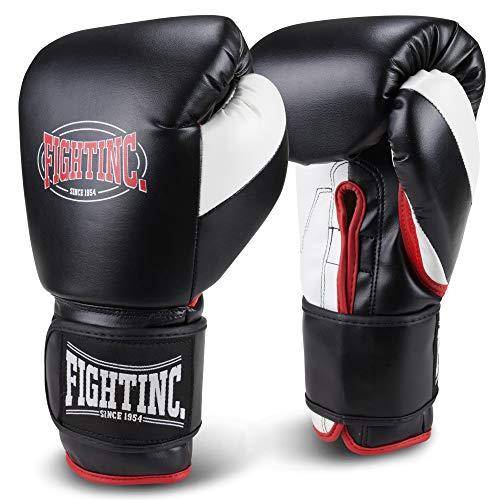 Fightinc. Boxhandschuhe Legacy Leder schwarz/rot (001) 16 Oz