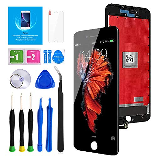 "Keytas for iPhone 8 Plus Screen Replacement Kit Black 5.5"" LCD Display iPhone 8 Plus 5.5 Inch 3D Touch Screen Digitizer Frame Assembly with Free Repair Tools Kit+ Screen Protector (Black)"