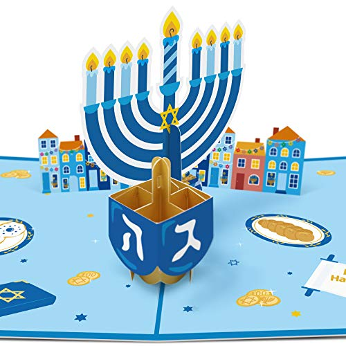 Hanukkah Pop Up Card 3D Cards Chanukah Festival Greeting Card Gift for Your Kids Friends…