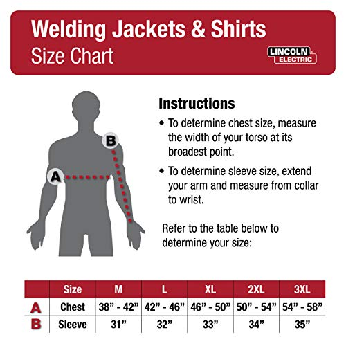 Lincoln Electric Split Leather Sleeved Welding Jacket
